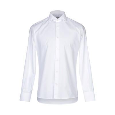 DOMENICO TAGLIENTE シャツ ホワイト 44 コットン 97% / ポリウレタン 3% シャツ
