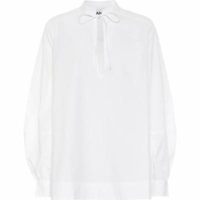 ガニー Ganni レディース ブラウス・シャツ トップス Cotton Poplin Blouse Bright White