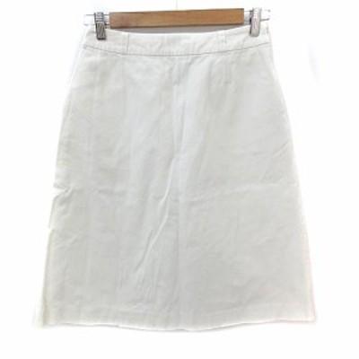 【中古】ケービーエフプラス KBF+ アーバンリサーチ スカート フレア ミモレ丈 F 白 ホワイト /NS15 レディース