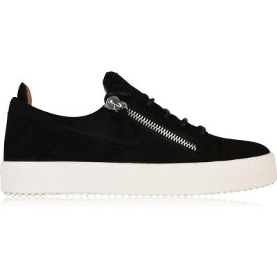 ジュゼッペ ザノッティ GIUSEPPE ZANOTTI メンズ スニーカー シューズ・靴 May Suede Trainers Black
