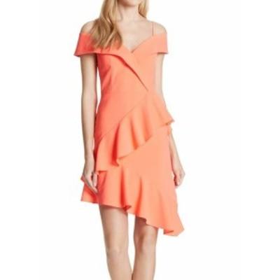 Alice + Olivia アリス+オリビア ファッション ドレス Alice + Olivia NEW Neon Pink Womens Size 12 Ruffled Sheath Dress