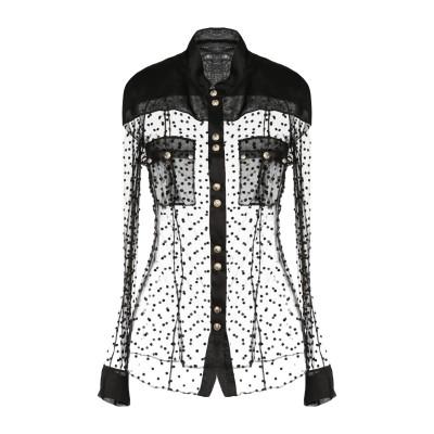 バルマン BALMAIN シャツ ブラック 40 ナイロン 68% / レーヨン 32% シャツ