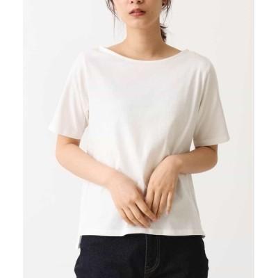 tシャツ Tシャツ ボートネックカットソー