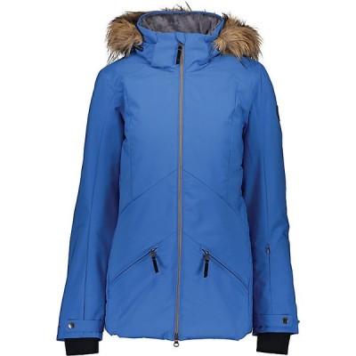 オバマイヤー ジャケット・ブルゾン レディース アウター Obermeyer Women's Siren with Faux Fur Jacket Heaven Sent Me Blue