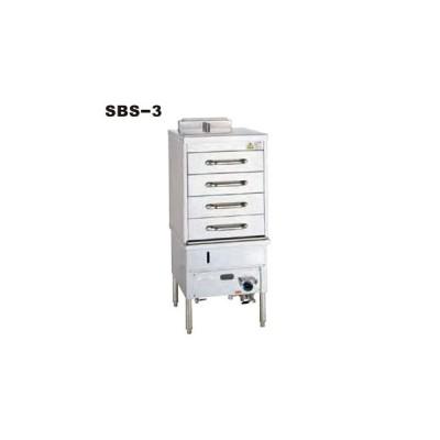 引出し式スチームボックス 蒸し器 SBS-3 535×655×1200mm  12A・13A(都市ガス)