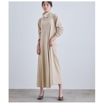 ROPE'/ロペ 【LA LIGNE(ラリーニュ)】【洗える】エリヌキ ベロア ドレス ホワイト系(11) 38