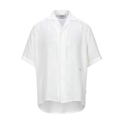 エムエスジーエム MSGM シャツ ホワイト 39 シルク 100% シャツ