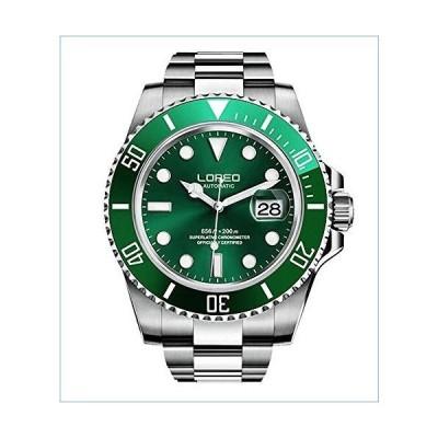 Automatic Watch for Men Luxury Dress Watch L9201G Luminous Waterproof Watch (Green)並行輸入品
