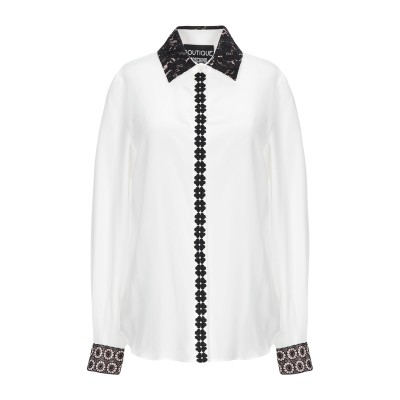 BOUTIQUE MOSCHINO シャツ ホワイト 38 シルク 100% / コットン / ナイロン / レーヨン / ポリエステル シャツ