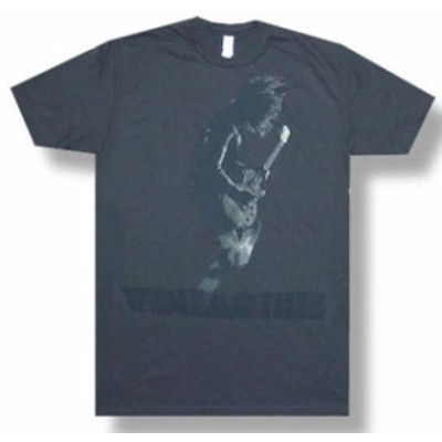 ファッション トップス Wolfmother-Duotone Guitar Image-X-Large Charcoal Gray Lightweight T-shirt