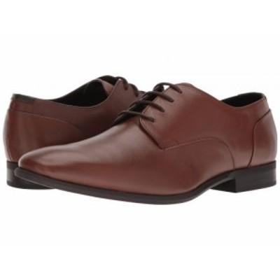 Calvin Klein カルバンクライン メンズ 男性用 シューズ 靴 オックスフォード 紳士靴 通勤靴 Lucca Dress Tan Calf Leather【送料無料】