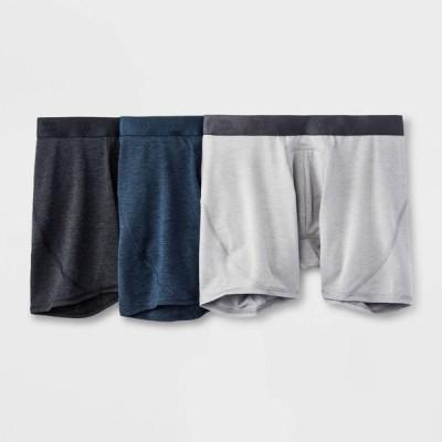 オールインモーション All in Motion メンズ ボクサーパンツ 3点セット All Day Active 3pk Boxer Briefs - Black/Fitness Gray/Determined Blue