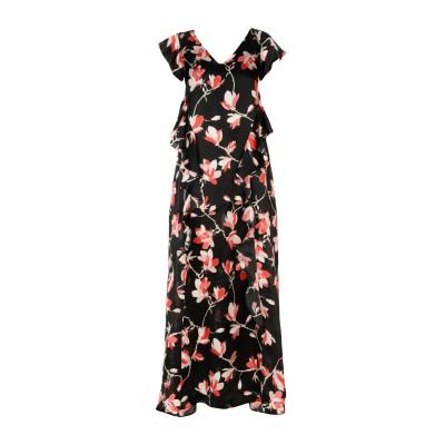 1-ONE ロングワンピース&ドレス ブラック 40 シルク 100% ロングワンピース&ドレス