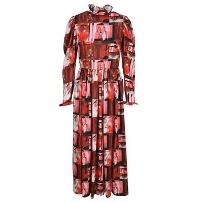 エムエスジイエム レディース ワンピース トップス MSGM Graphic Print Ruffled Maxi Dress -