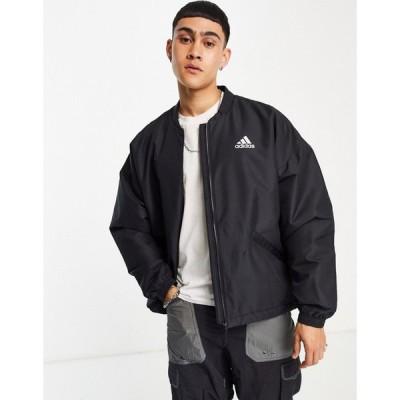 アディダス adidas performance メンズ レインコート アウター adidas Outdoors Terrex light rain insulated jacket in black ブラック