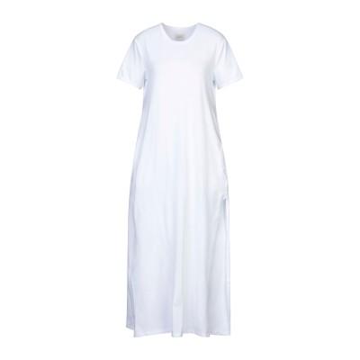 メルシー ..,MERCI ロングワンピース&ドレス ホワイト XS コットン 94% / ポリウレタン 6% ロングワンピース&ドレス