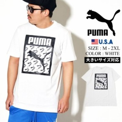 PUMA プーマ 半袖 Tシャツ メンズ ロゴ Logo Tee Logo Fill 02 PUMA WHITE 596271 夏新作