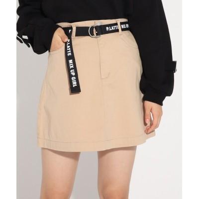 WORLD ONLINE STORE SELECT / ベルト付ミニスカート KIDS スカート > スカート