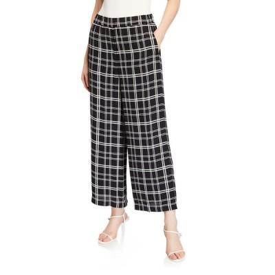 エリータハリ レディース カジュアルパンツ ボトムス Heidi Check Wide-Leg Ankle Pants