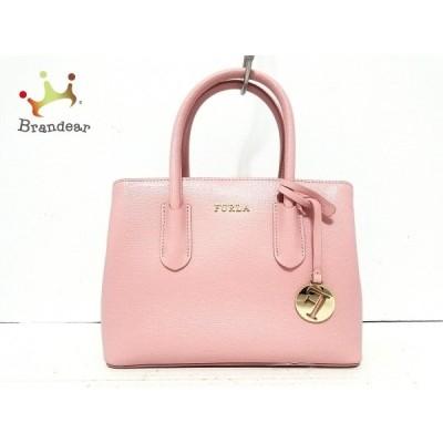 フルラ FURLA ハンドバッグ 美品 ピンク レザー   スペシャル特価 20200728