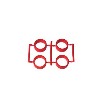 【ネコポス対応】イーグル(EAGLE)/MINI4-RT02-RE/SP中径レーシングタイヤ内径20.5mm2.0mm厚:ミニ4(レッド)