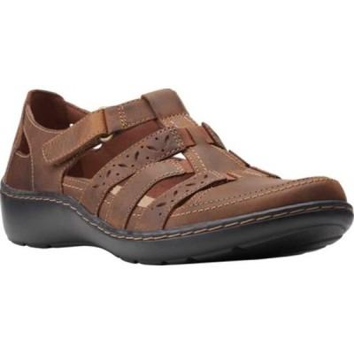 クラークス サンダル シューズ レディース Cora River Fisherman Sandal (Women's) Dark Tan Leather