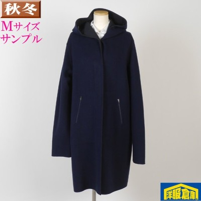 フーデッド コート ウール レディース Mサイズ 12500 LSC7043