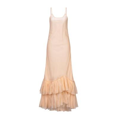 MES DEMOISELLES ロングワンピース&ドレス ライトピンク 34 コットン 100% ロングワンピース&ドレス