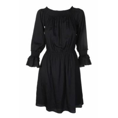 ファッション ドレス Kobi Schwarz Aus-Die-Schulter KLEID