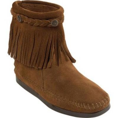 ミネトンカ Minnetonka レディース ブーツ シューズ・靴 Hi Top Back Zip Boot Dusty Brown Suede