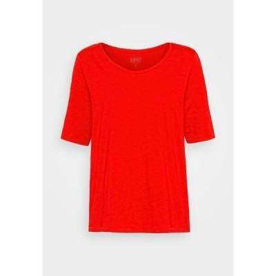 エスプリ Tシャツ レディース トップス Basic T-shirt - red