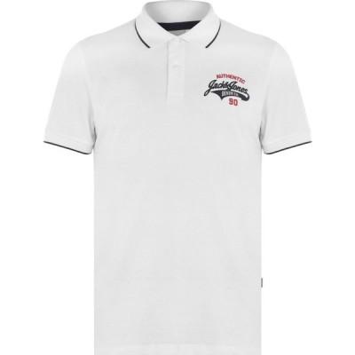 ジャック&ジョーンズ Jack and Jones メンズ ポロシャツ トップス Core Heritage Polo Shirt White