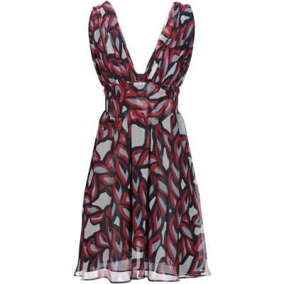 PINKO UNIQUENESS ミニワンピース&ドレス レッド 44 シルク 100% ミニワンピース&ドレス