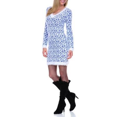 ホワイトマーク レディース ワンピース トップス Angora Like Sweater Dress