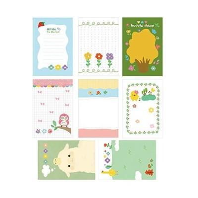 MinniLove 可愛い便箋 メモ帳 小さな手帳 携帯用メモ帳 アイデア 可愛い柄 学習用品 オフィス用品 (1セット10種類入り)
