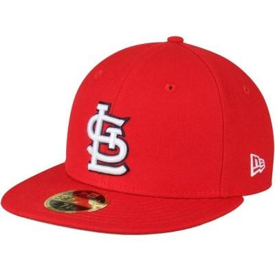 ニューエラ 帽子 アクセサリー メンズ St. Louis Cardinals New Era Standard 2 Low Profile 59FIFTY Fitted Hat Red