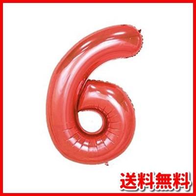 パーティーパーク アルミバルーン レッド 赤色 数字 ナンバー 0*9選べる 組み合わせ自由 約90* 誕生日 誕生会