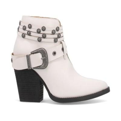 ディンゴ ブーツ&レインブーツ シューズ レディース Women's Born to Run Leather Bootie White