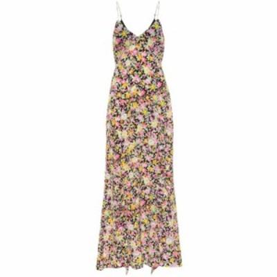 レ レヴェリズ Les Reveries レディース ワンピース ワンピース・ドレス floral silk maxi slip dress Psychedelic Meadow