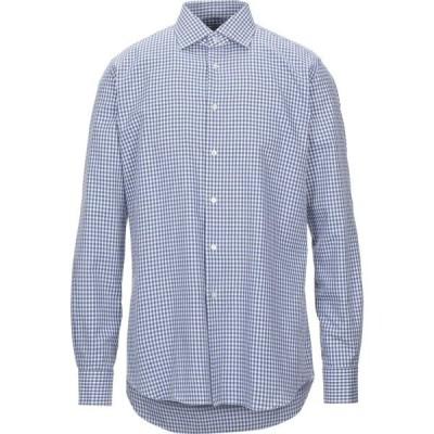 ザカス XACUS メンズ シャツ トップス checked shirt Slate blue