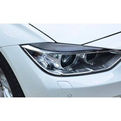 BMW F30 F31用品 アイライン カバー  ヘッドライト ガーニッシュ 左右セット カーボン製