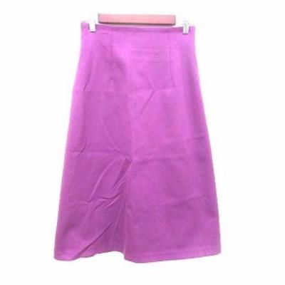 【中古】ラ トータリテ La TOTALITE 台形スカート ロング 36 紫 パープル /YK レディース