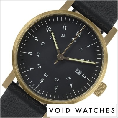 ヴォイド 時計 VOID 腕時計 メンズ レディース ブラック VID020041