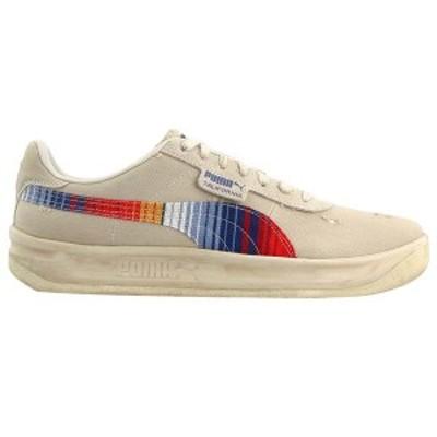 プーマ メンズ スニーカー シューズ California Vintage Lace Up Sneakers Birch / Blue Indigo