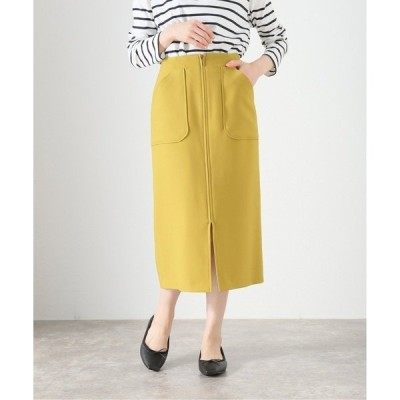 スカート ポケットジップタイトスカート【手洗い可能】