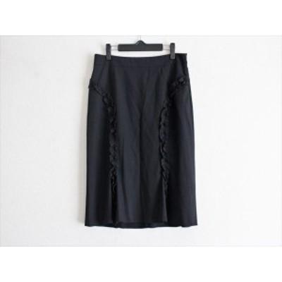 ブルマリン BLUMARINE スカート サイズI46 L レディース 黒 フリル【還元祭対象】【中古】20200904