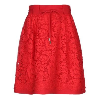 ヴァレンティノ VALENTINO ひざ丈スカート レッド 40 コットン 71% / レーヨン 21% / ナイロン 8% ひざ丈スカート