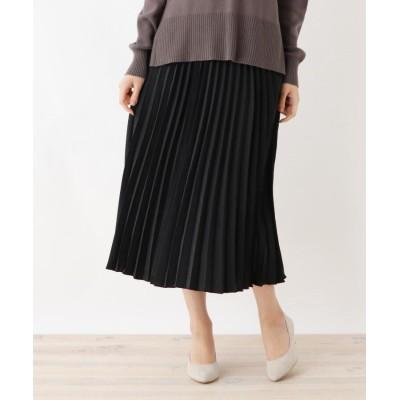 SHOO・LA・RUE(シューラルー) ヴィンテージ風サテンプリーツロングスカート