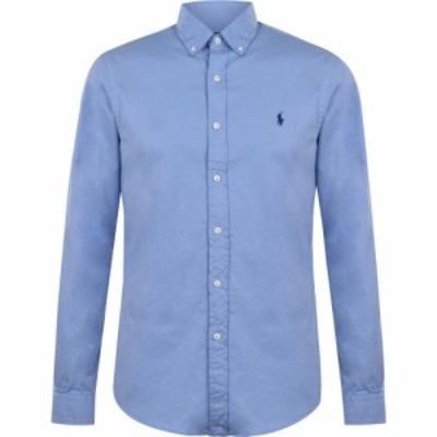 ラルフ ローレン Polo Ralph Lauren メンズ シャツ トップス Slim Fit Garment Dyed Shirt DressShirtBlue