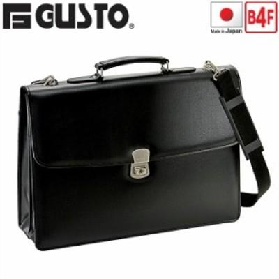 ビジネスバッグ カブセ クラッチバッグ メンズ 42cm B4F B4ファイル A4 間仕切り付き ショルダーベルト付き G-GUSTO G-ガスト #23472 ポ
